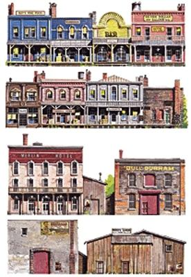 Walthers Accessories Instant Buildings Old West Frontier -- HO Scale Model Railroad Scenery Supply -- #723