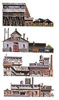 Walthers-Acc Instant Buildings Industrial District HO Scale Model Railroad Scenery Supply #724