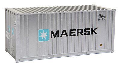 Walthers Accessories 20' Container MAERSK -- HO Scale Model Train Freight Car Load -- #8001