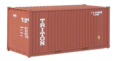 Walthers Accessories 20' Container Triton -- HO Scale Model Train Freight Car Load -- #8004
