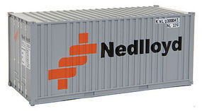 Walthers-Acc 20' Container Nedlloyd HO Scale Model Train Freight Car Load #8005