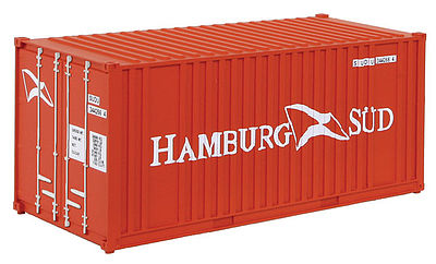 Walthers Accessories 20' Container Hamburg -- HO Scale Model Train Freight Car Load -- #8006