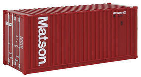 Walthers-Acc 20 Rib Container Matson HO Scale Model Train Freight Car Load #8007