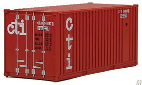 Walthers-Acc 20 Container w/Flat Panel - Assembled CTI (red, white)