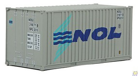 Walthers-Acc 20 Container w/Flat Panel - Assembled NOL (gray, blue, teal)