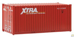 Walthers-Acc 20 Container w/Flat Panel - Assembled Xtra Leasing Intermodal (red, white)
