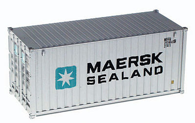 Walthers Accessories 20' Corrugated Container Maersk-Sealand -- HO Scale Model Train Freight Car Load -- #8051