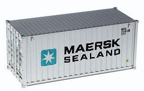 Walthers-Acc 20' Corrugated Container Maersk-Sealand HO Scale Model Train Freight Car Load #8051