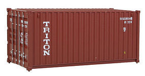 Walthers-Acc 20 Corrugated Container Triton HO Scale Model Train Freight Car Load #8053