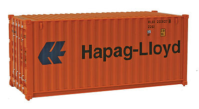 Walthers Accessories 20' RS Container Hapag-Lloyd -- HO Scale Model Train Freight Car Load -- #8055