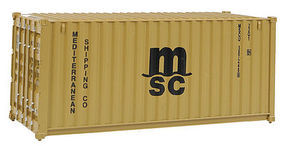 Walthers-Acc 20' Corrugated Container MSC HO Scale Model Train Freight Car Load #8057