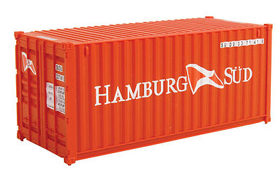 Walthers Accessories 20' Corrugated Container Hamburg Sud -- HO Scale Model Train Freight Car Load -- #8058