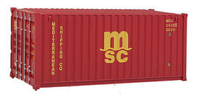 Walthers-Acc 20 Corrugated Container MSC HO Scale Model Train Freight Car Load #8059