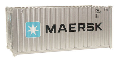 Walthers Accessories 20' Corrugated-Side Container Maersk -- HO Scale Model Train Freight Car Load -- #8060