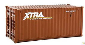 Walthers-Acc 20 Corrugated Container - Assembled Xtra Leasing (brown, white)