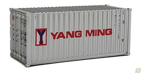 Walthers-Acc 20 Corrugated Container - Assembled Yang Ming (gray, red, blue)