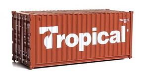 Walthers-Acc 20 Corrugated Container - Assembled Tropical (brown, white)