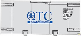 Walthers-Acc 20 Tank Container - Kit Santa Fe