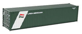 Walthers-Acc 40 Rib Container Linea Mexicana HO Scale Model Train Freight Car Load #8156