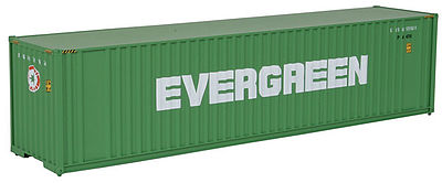 Walthers Accessories 40' HC Container Evergreen -- HO Scale Model Train Freight Car Load -- #8202