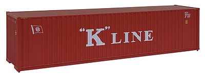 Walthers Accessories 40' HC Container K-Line -- HO Scale Model Train Freight Car Load -- #8203