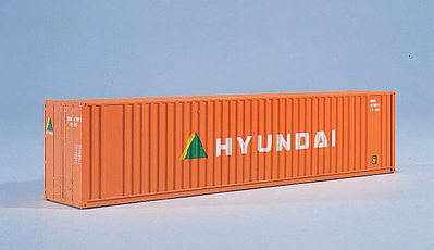 Walthers Accessories 40' HC Container Hyundai -- HO Scale Model Train Freight Car Load -- #8207