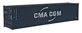 Walthers-Acc 40 HC RS Cont CMA-CGM HO Scale Model Train Freight Car Load #8257