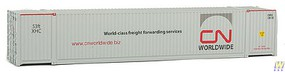 Walthers-Acc 53 Singamas Corrugated-Side Container - Assembled Canadian National (white, gray, red, Worldwide Logo)