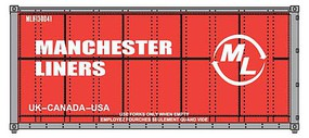 Walthers-Acc 20' Smooth Side Container Manchester Lines