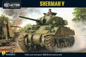 Warload-Games WWII Sherman V British Medium Tank Plastic Model Tank Kit 1/56 Scale #11004