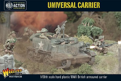 Warload-Games WWII British Armored Universal Carrier Plastic Model Military Vehicle Kit 1/56 Scale #11008