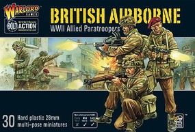 Warload-Games 28mm Bolt Action- WWII British Airborne Allied Paratroopers (30) (Plastic)