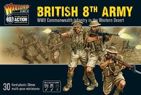 Warload-Games 28mm Bolt Action- WWII British 8th Army Commonwealth Infantry Western Desert (30) (Plastic)
