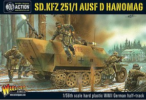 Warload-Games WWII SdKfz 251/1 Ausf D Hanomag Plastic Model Military Vehicle Kit 1/56 Scale #12003