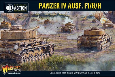 Warload-Games WWII Panzer IV Ausf F1/G/H German Medium Tank Plastic Model Tank Kit 1/56 Scale #12010