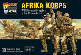 Warload-Games 28mm Bolt Action- WWII German Afrika Korps Grenadiers Western Desert (30) (Plastic)