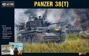 Warload-Games Panzer 38(t) German Light Tank Plastic Model Tank Kit 1/56 Scale #12031