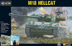Warload-Games WWII M18 Hellcat US Tank Destroyer Plastic Model Tank Kit 1/56 Scale #13004