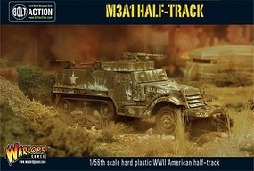 Warload-Games WWII M3A1 US Halftrack Plastic Model Military Vehicle Kit 1/56 Scale #13010