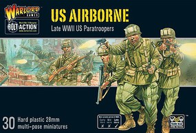 Warload-Games 28mm Bolt Action- WWII Late US Airborne Paratroopers (30) (Plastic)