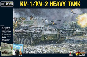 Warload-Games WWII KV1/KV2 Soviet Heavy Tank Plastic Model Tank Kit 1/56 Scale #14001