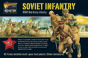 Warload-Games 28mm Bolt Action- WWII Soviet Red Army Infantry (40) (Plastic)
