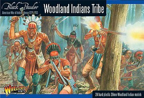 Warload-Games 28mm Black Powder- Woodland Indians Tribe 1776-1783 (24) (Plastic)