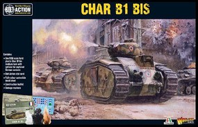 Warload-Games Char B1bis French Medium Tank Plastic Model Tank Kit 1/56 Scale #15502