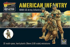 Warload-Games 28mm Bolt Action- WWII US Army Infantry (25) (Plastic)