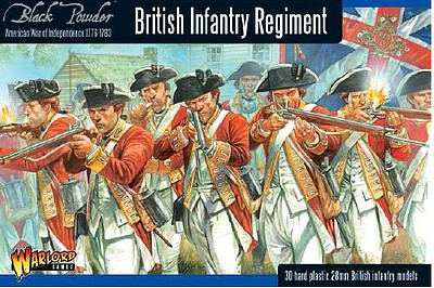 Warload-Games British Infantry Regiment 1776-1783 (30) Plastic Model Figure Kit 1/56 Scale #awi01