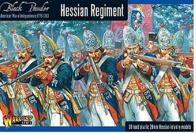 Warload-Games Hessian Regiment 1776-1783 (30) Plastic Model Figure Kit 1/56 Scale #awi03