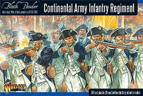Warload-Games 28mm Black Powder- Continental Infantry Regiment 1776-1783 (30) (Plastic)