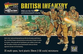 Warload-Games 28mm Bolt Action- WWII Late War British Infantry (25) (Plastic)