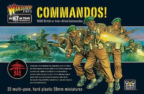 Warload-Games 28mm Bolt Action- WWII British or Inter-Allied Commandos (25) (Plastic)